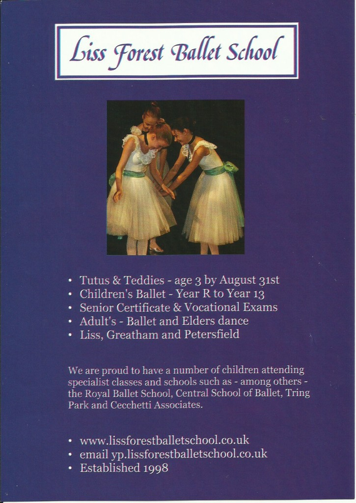liss forest ballet school - jan2016 leaflet