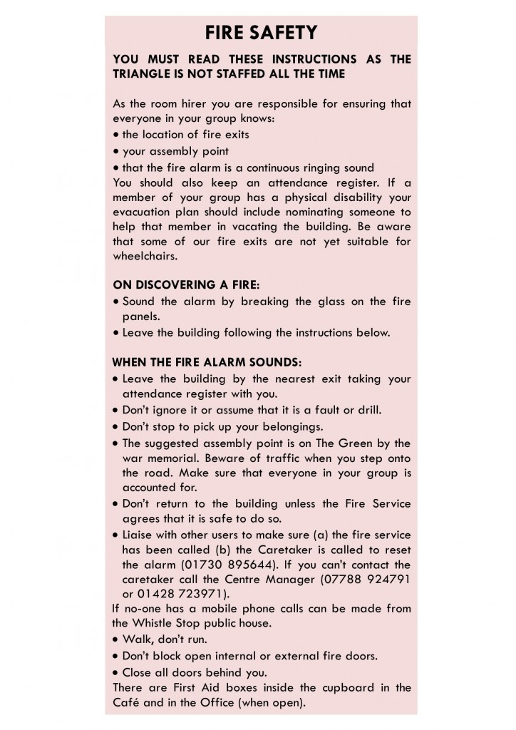 fire safety 2017