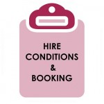 hire conditions & booking - widget