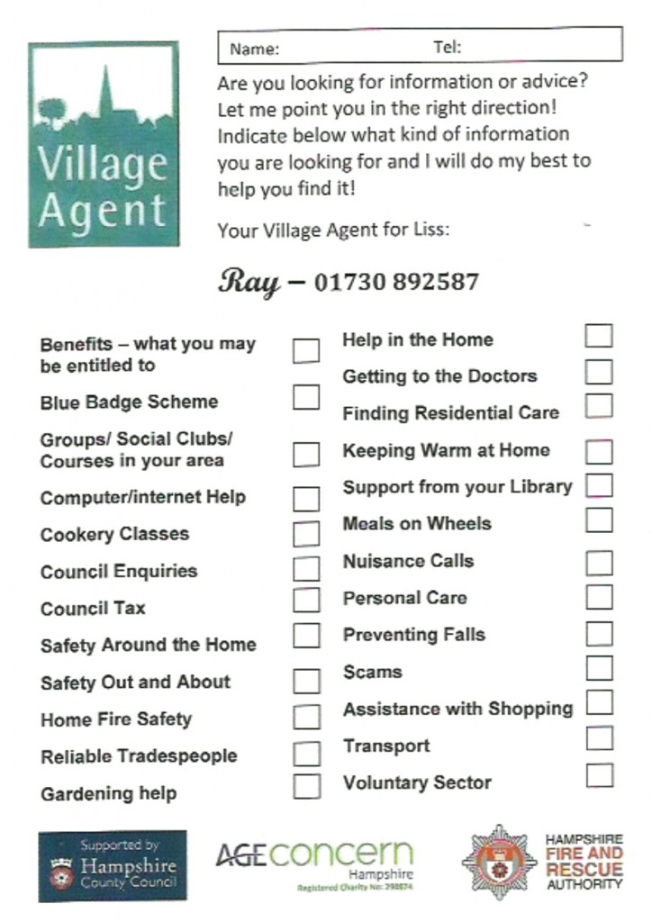 village agent - contact form - oct 2017