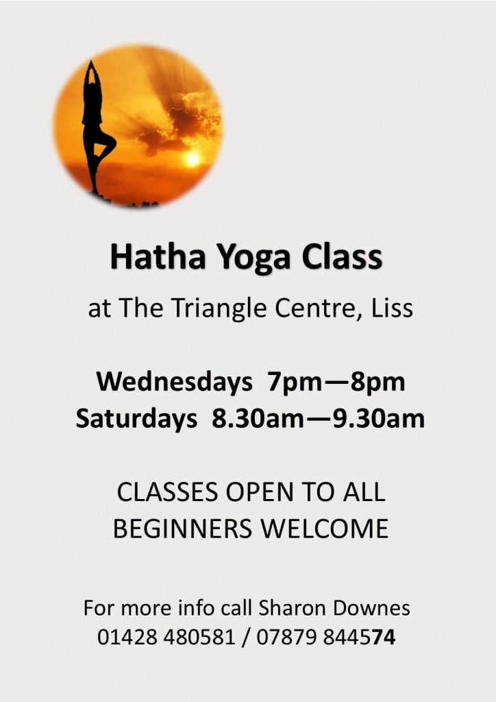 hatha yoga - sharon downes - nov2017 - poster amended