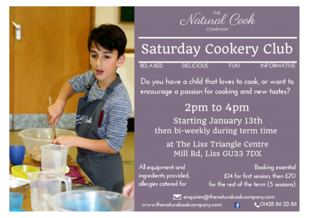 cookery club - jan 2018 - poster