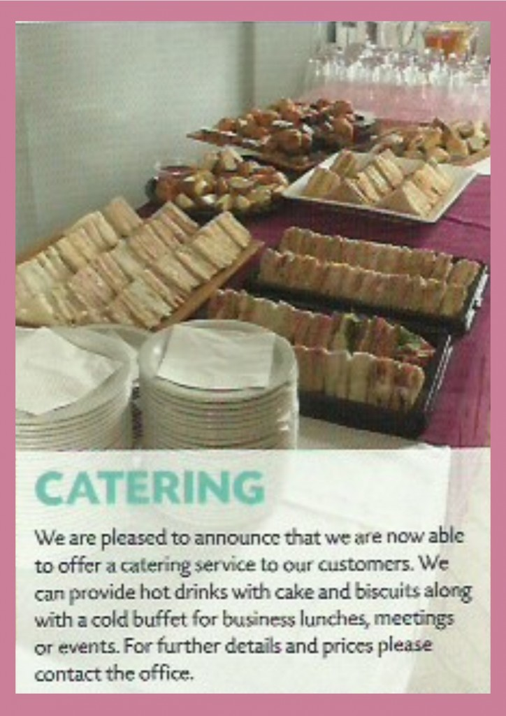 triangle catering service - newsletter extract - autumn 2017