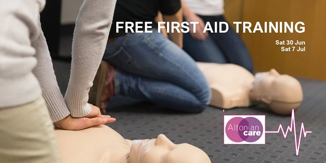first aid training - altonian care - 30.06.18 and 07.07.18 - slide