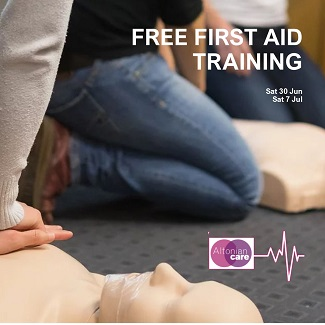 first aid training - altonian care - 30.06.18 and 07.07.18 - widget