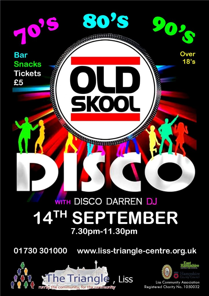 old skool disco - 14.09.18 - poster amended