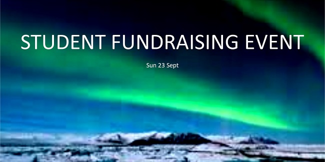 student fundraising event - 23.09.18 - slide 650 x 325