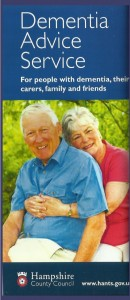 dementia advice leaflet - front cover