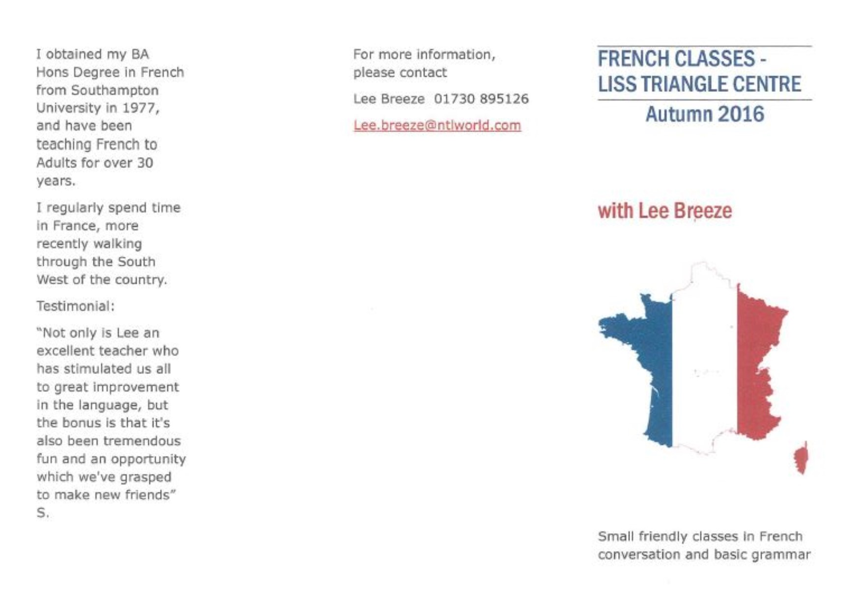 French with Lee Breeze - The Triangle Centre