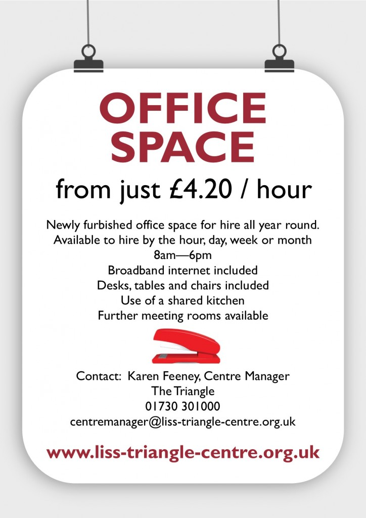 office space for hire - may2017 - poster