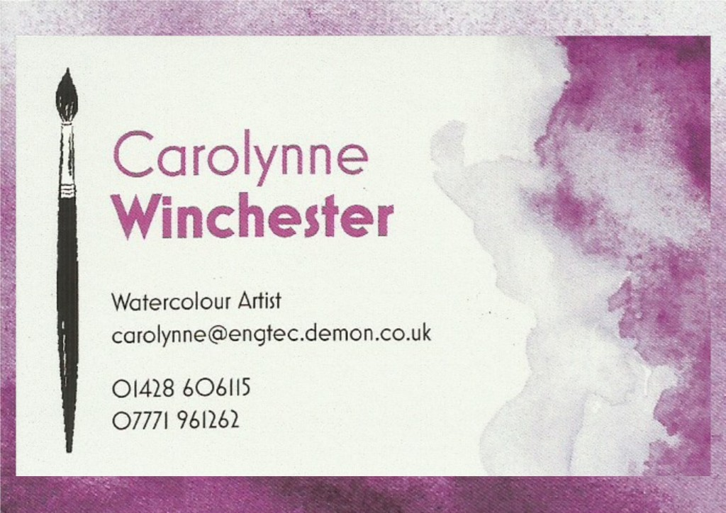 carolynne winchester - business card