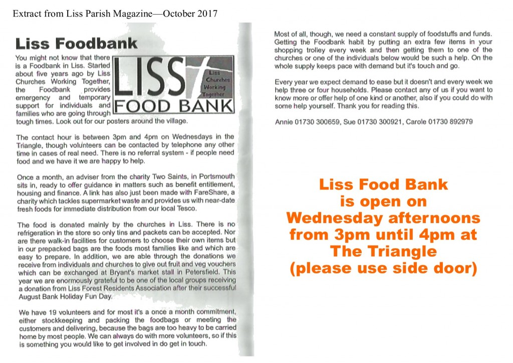 food bank - oct2017