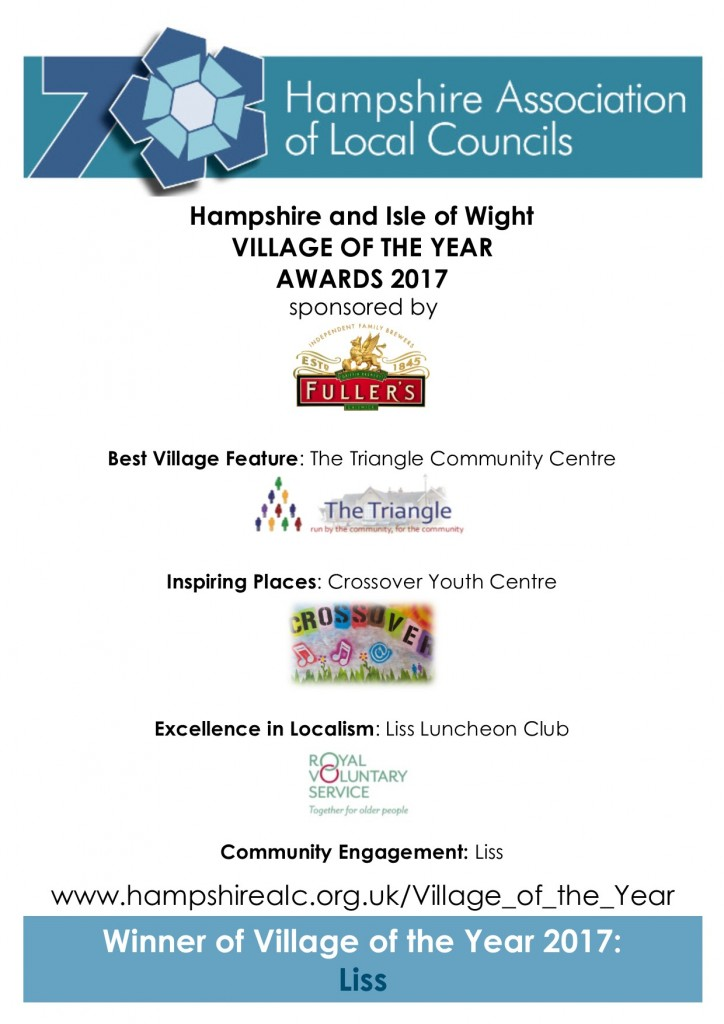 hampshire association of local councils 2017 - awards