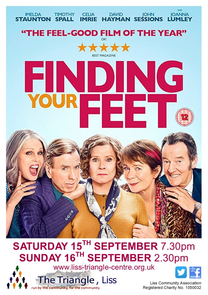 finding your feet - 15&16.09.18 - poster