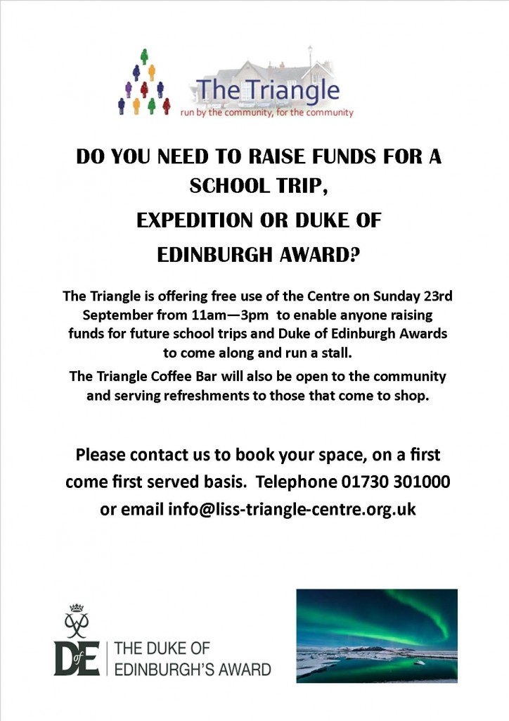 student fundraising event - 23.09.18 - poster